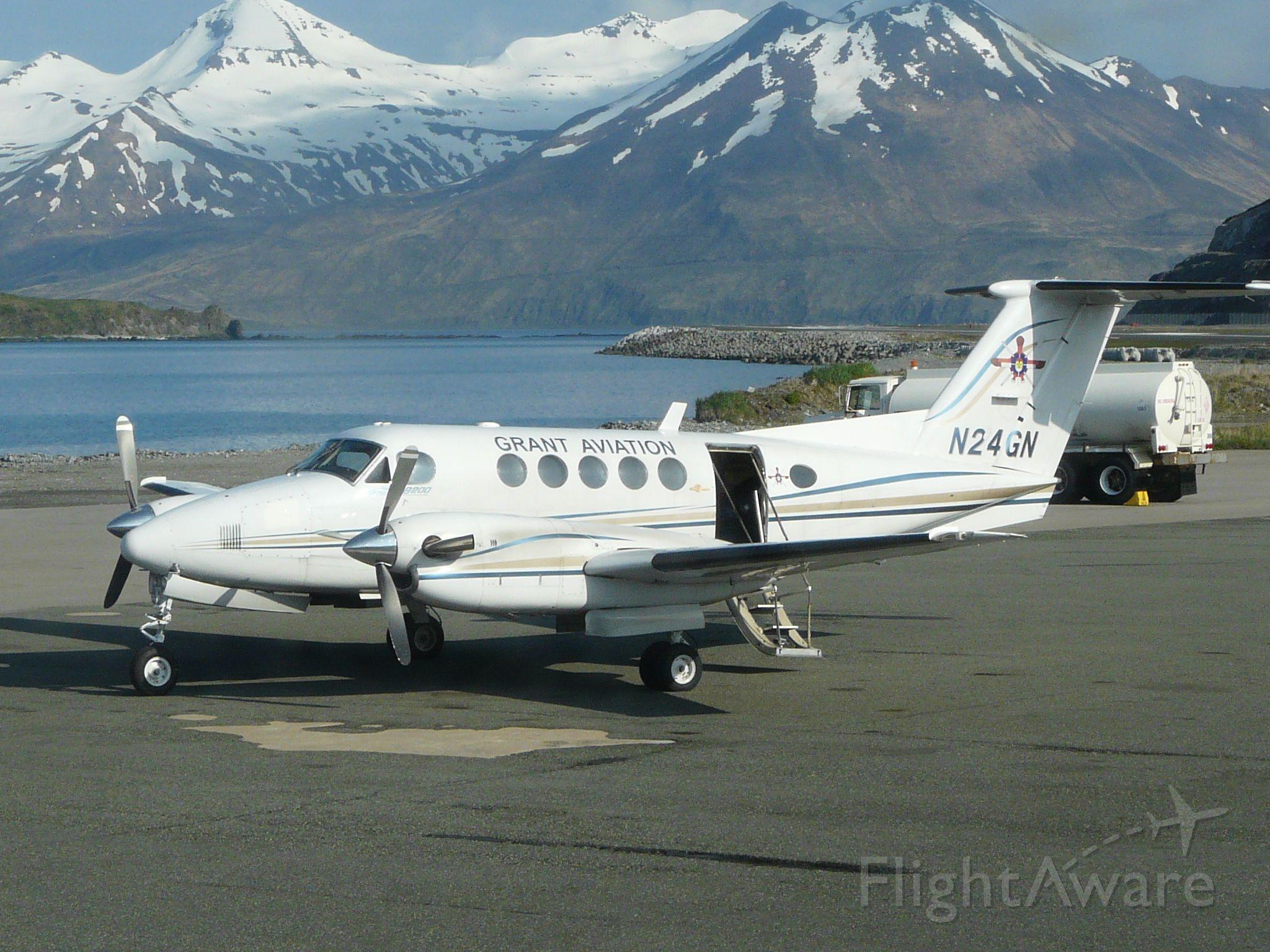 Beechcraft Super King Air 200 (N24GN) - At Atka, AK ready to load for Dutch Harbor (Unalaska)