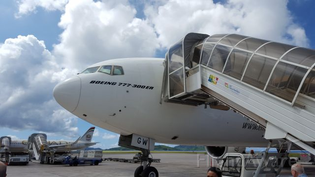 — — - Landed safely in beautiful Republic of Seychelles