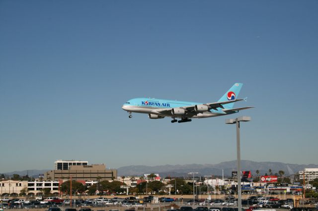 Airbus A380-800 — - Approach to 24R