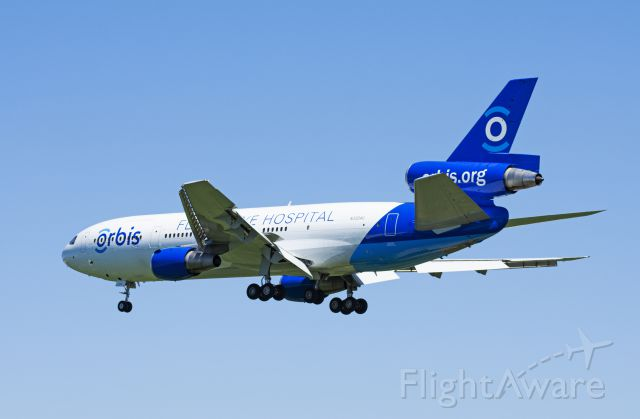 McDonnell Douglas DC-10 (N330AU) - Airline: Project Orbis<br />Aircraft: MD-10-30F<br />Registration: N330AU<br />Age of Airframe: 46.2 Years Old<br />Delivered: April 19th, 1973 to Trans International Airlines<br />Photo Location: Toronto Pearson International Airport