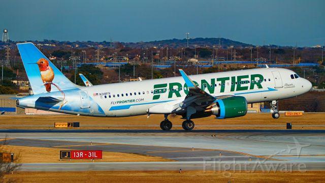 Airbus A320neo (N318FR) - 13R arrival.