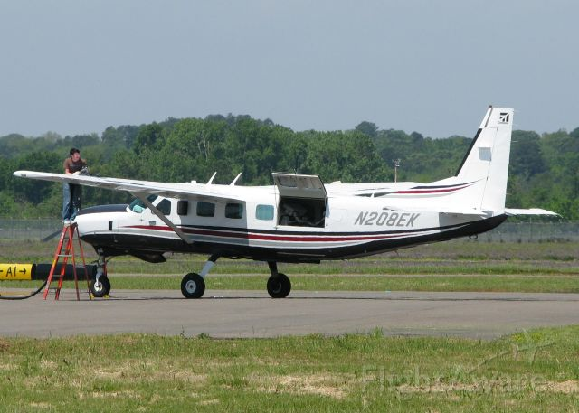 Cessna Caravan (N208EK) - Taking on some fuel at the Natchitoches,Louisiana Regional airport.