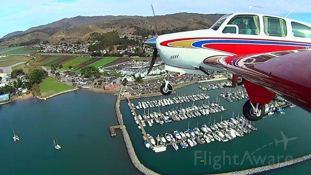 Beechcraft Bonanza (33) (N8943U) - Landing in Half Moon Bay with the video camera mounted on the wing tip.
