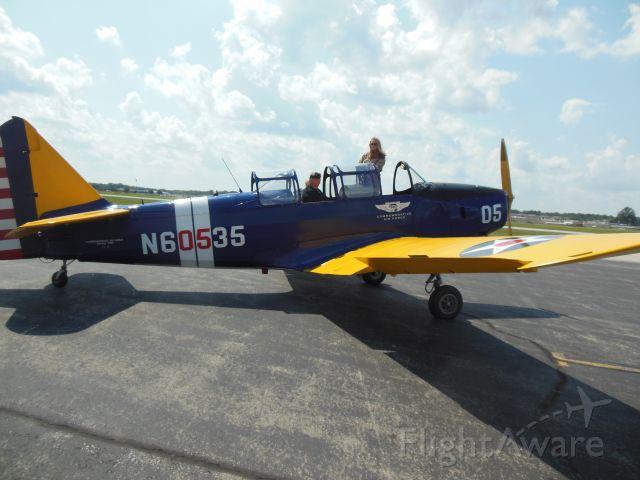 FLEET PT-26 Cornell (N60535) - Bill in cockpit 2015