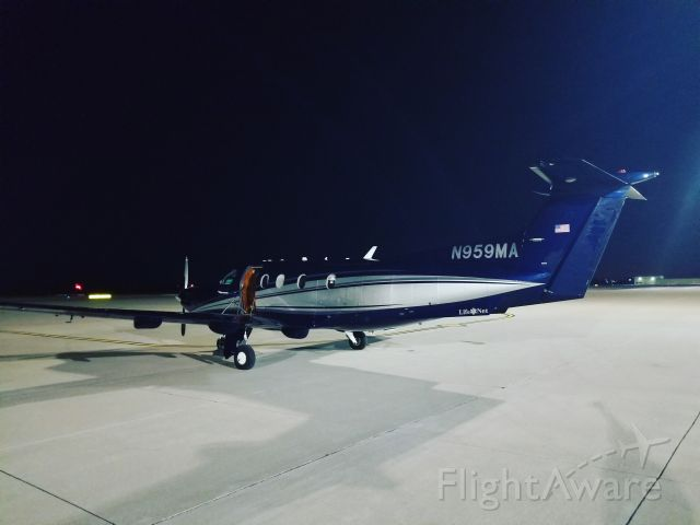 Pilatus PC-12 (N959MA) - Standing at Trego Dugan Aviation after a flight.