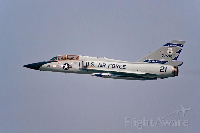 CONVAIR QF-106 Delta Dart (57-2530) - Low approach at March AFB 3.87