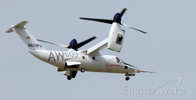 Bell BA-609 (N609PA) - Shortly after departure is this 2016 AgustaWestland AW609 Tiltrotor in the Spring of 2020.
