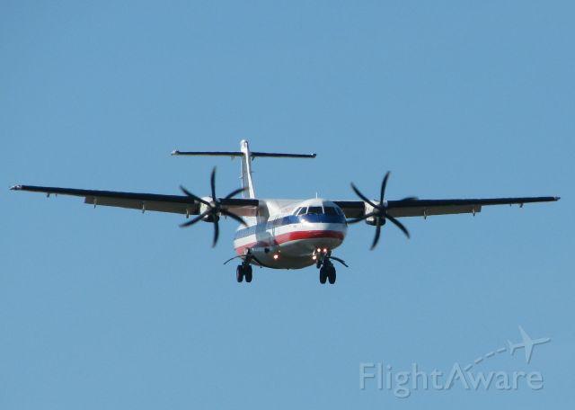ATR ATR-72 (N494AE) - Landing on runway 5 at the Shreveport Regional airport.