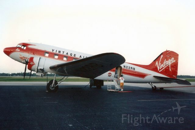 Douglas DC-3 (N22RB) - Being prepared for departure to KEYW via KFLL on 9-Jul-94.<br /><br />Damaged beyond repair by Hurricane Charley on 13-Aug-04 at KORL. Registration cancelled 24-Feb-06.