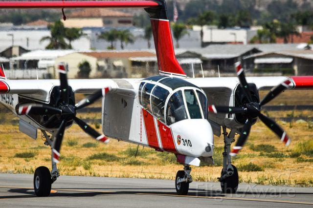 North American Rockwell OV-10 Bronco (N429DF) - Cal Fire OV-10 pulling in to park at Hemet Airport