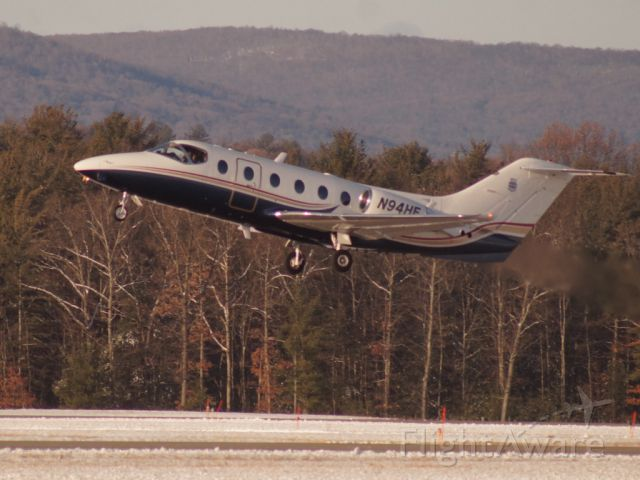 Beechcraft Beechjet (N94HE) - Taken at Saratoga County Airport, NY on Dec.13.2017