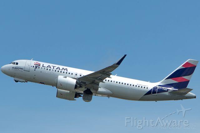 Airbus A320 (PT-TMN) - LATAM Brasil - Airbus A320-271N<br />Registration: PT-TMN<br /><br />Sao Paulo (GRU)/ Montevideo (MVD)<br /><br />Foto tirada em: 10/12/2016<br />Fotografia: Marcelo Luiz