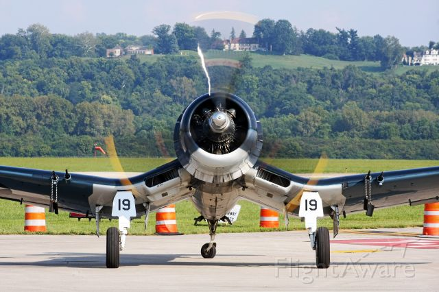 VOUGHT-SIKORSKY V-166 Corsair (N451FG) - Engine Run-Up at Lunken Airport Labor Day Weekend 2015.