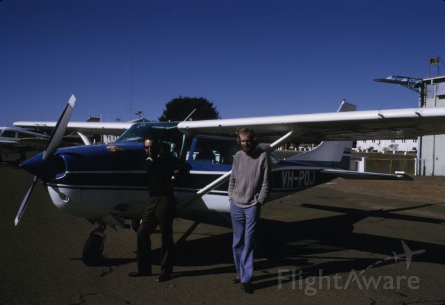 Cessna 206 Stationair (VH-PQJ) - Aircraft owned by School of Physics Sydney University. At Parkes NSW testing range of radio telemetry tracking equipment. Observe four antennas on leading edge of the wings. From about 1974.