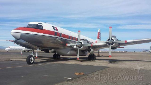 Douglas DC-7 (N401US) - Tanker 62, N401US Madras, Oregon 2015