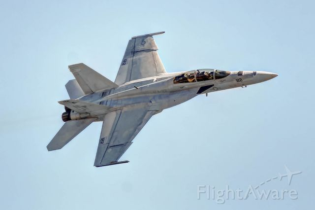 McDonnell Douglas FA-18 Hornet — - An F-18 makes a high speed pass at Tyndall AFB.