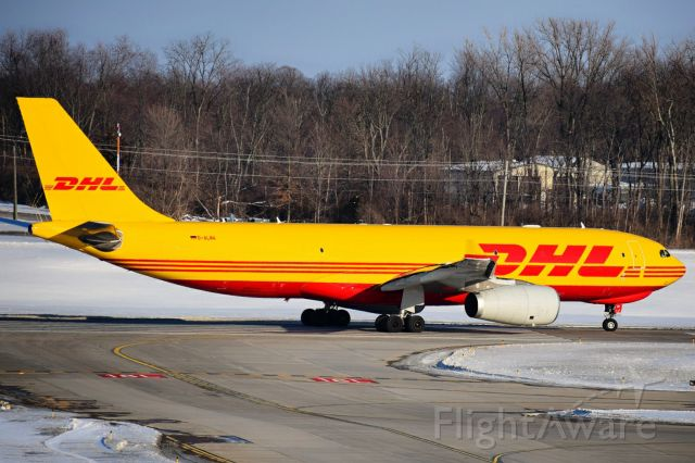 Airbus A330-200 (D-ALMA) - D-ALMA departing Runway 18L at Cincinnati for an 8 hour hop over to Brussels (BRU) as BCS955 for DHL Aviation