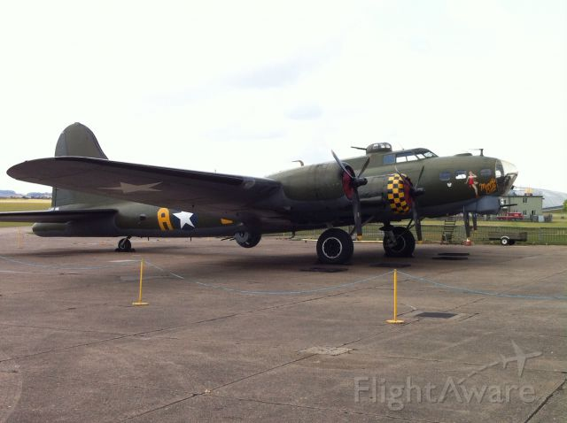 Boeing B-17 Flying Fortress — - B17 Flying Fortress the Memphis Belle at Duxford Imperial War Museum