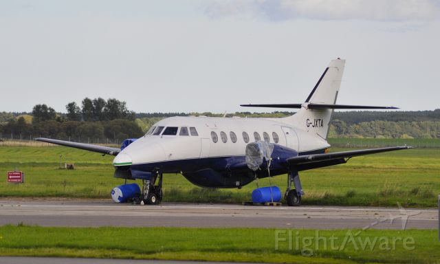 British Aerospace Jetstream 31 (G-JXTA) - British Aerospace BAe Jetstream 31 G-JXTA stored at Inverness Airport