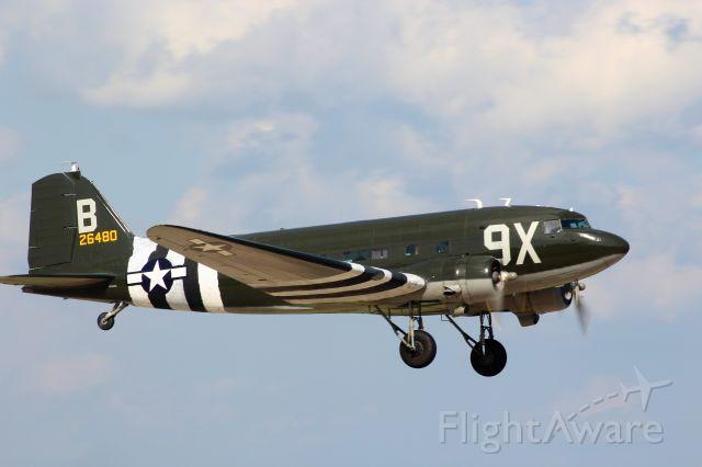 Douglas DC-3 (N534BE) - DC-3 Mass Take-Off Friday Airventure Warbird Show.
