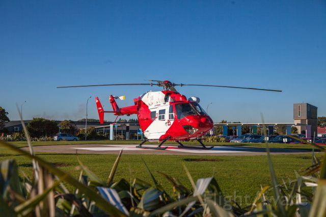 ZK-IWL — - just out the box -- Heli Otago on rescue mission MBB/Kawasaki BK 117 ZK IWL rests at Kew Hospital Invercargill New Zealand