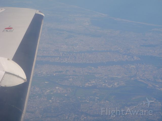 Raytheon Hawker 800 (XA-SON) - A FL390 view of New York City