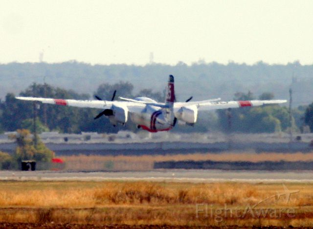 MARSH Turbo Tracker (N448DF) - KRDD Sept 2014 Boles Fire at Weed, CA tanker 95 lifting off  the main runway - with Airshow precision and hot dog gear retraction...neat to see - they all did it,,,pulled the yoke and the gear started coming up.!