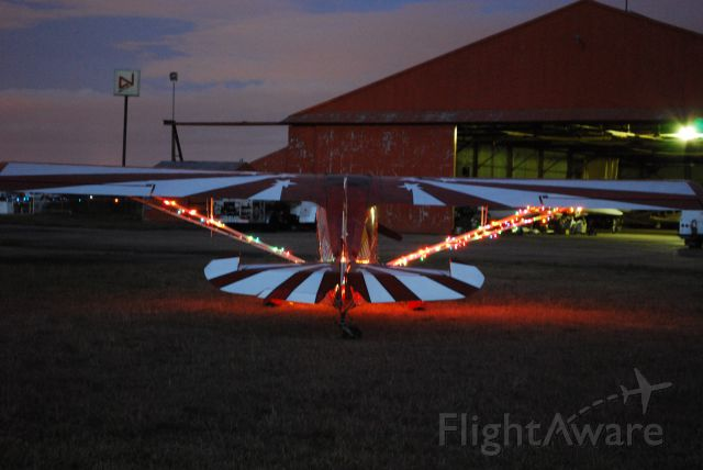 CHAMPION Decathlon (N594AM) - The glow of Christmas lights anticipating the joy of Christmas!