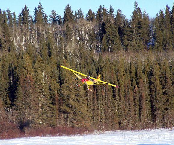 Piper L-21 Super Cub (N2666P) - Northern SK. Icefishing.
