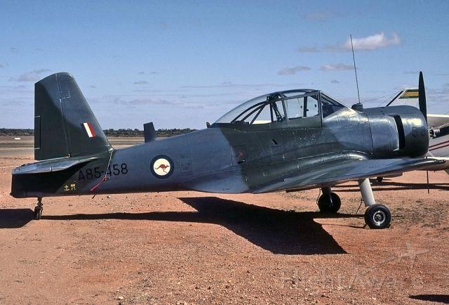 A85458 — - AUSTRALIA - AIR FORCE - COMMONWEALTH CA-25 WINJEEL - REG A85-458 (CN CA25-58) - BROKEN HILL NSW. AUSTRALIA - YBHI (24/4/1983)