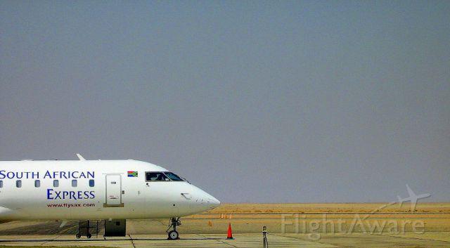 Canadair Regional Jet CRJ-200 — - Bombardier CRJ-200 at Rooikop Airport, Walvis Bay, Namibia