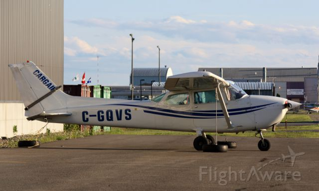 Cessna Skyhawk (C-GQVS) - After a long day, resting at CYRQ.