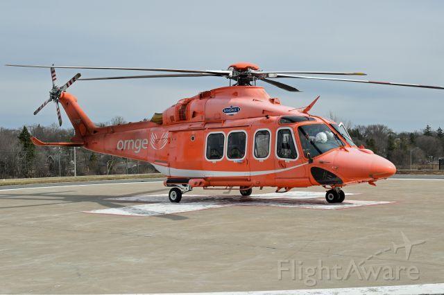 BELL-AGUSTA AB-139 (C-GYNF) - 2010 Agusta AW-139 (C-GYNF/41226) just arrived at the PRHC Helipad (CNU3) from Billy Bishop Toronto City Airport (CYTZ)