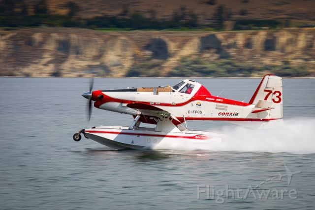C-FFQS — - Conair Aerial Firefighting Air Tractor AT-802A loading on Okanagan Lake, British Columbia, Canada.