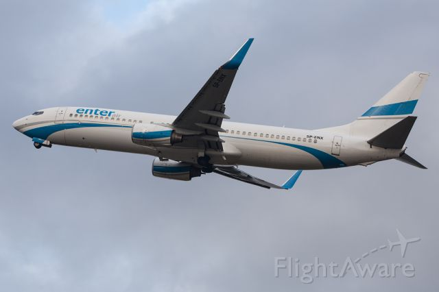 Boeing 737-800 (SP-ENX) - ENT3229 off to see Santa.