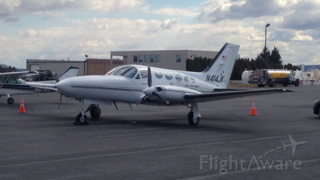 Cessna Chancellor (N414JK) - Cessna Chancellor parked at Millenium Aviation in Reading PA.