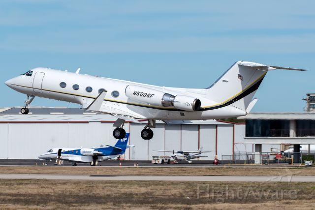 Gulfstream Aerospace Gulfstream 3 (N500GF) - Waffle House G-III departing Addison.