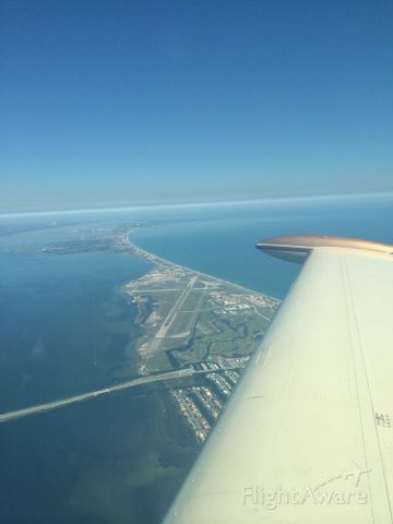 Beechcraft 35 Bonanza (N7273B) - Departed Melbourne FL for Kansas - just south of Patrick AFB