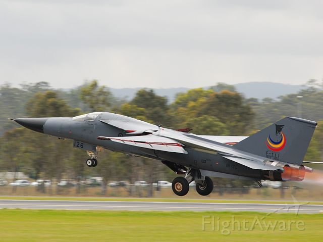 Grumman EF-111 Raven — - F11c departing Amberly RAAF base just prior to the types retirement