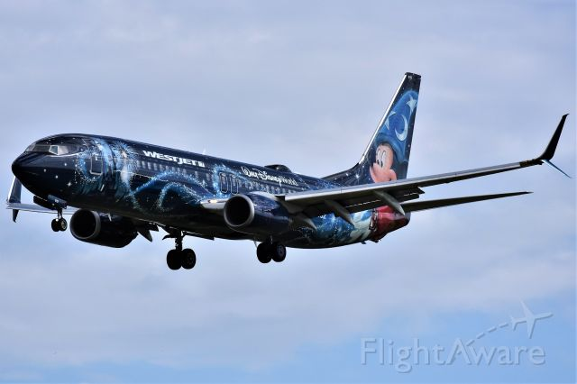 Boeing 737-800 (C-GWSZ) - WestJet (Disney's Micky Mouse Livery) Boeing 737-8CT arriving at YYC on Aug 30.