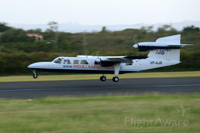 PILATUS BRITTEN-NORMAN Trislander (VP-AJR) - Trislander landing RW 11 at TQPF