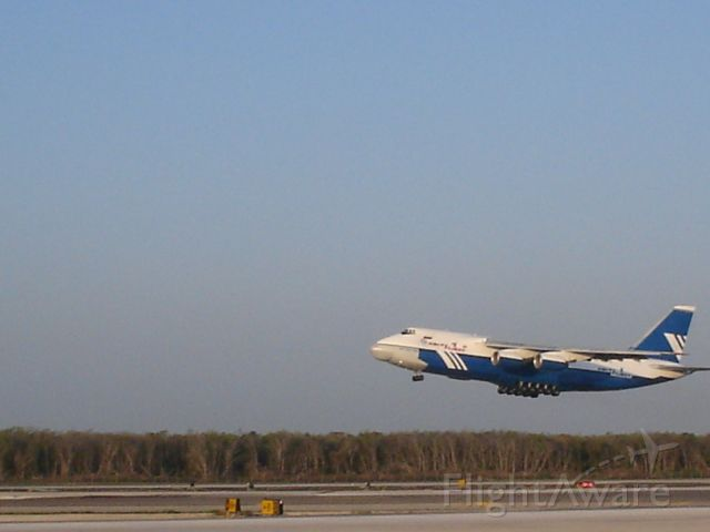 — — - Antonov 124 taking off from CanCun, Mexico during AOG recovery fligh