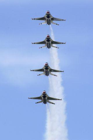 — — - Thunderbirds over Rochester, NY