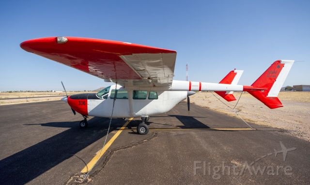 Cessna Super Skymaster (N336CF) - Registration is really hard to see, but it's right under the rudder fins<br />Spotted November 18th 2020