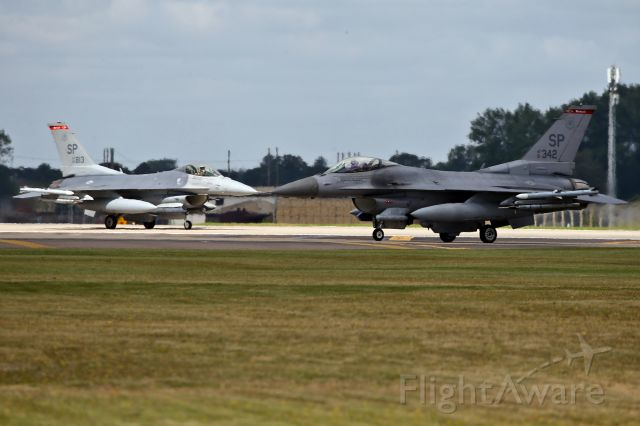 Lockheed F-16 Fighting Falcon — - Holding short at RAF Lakenheath, UK
