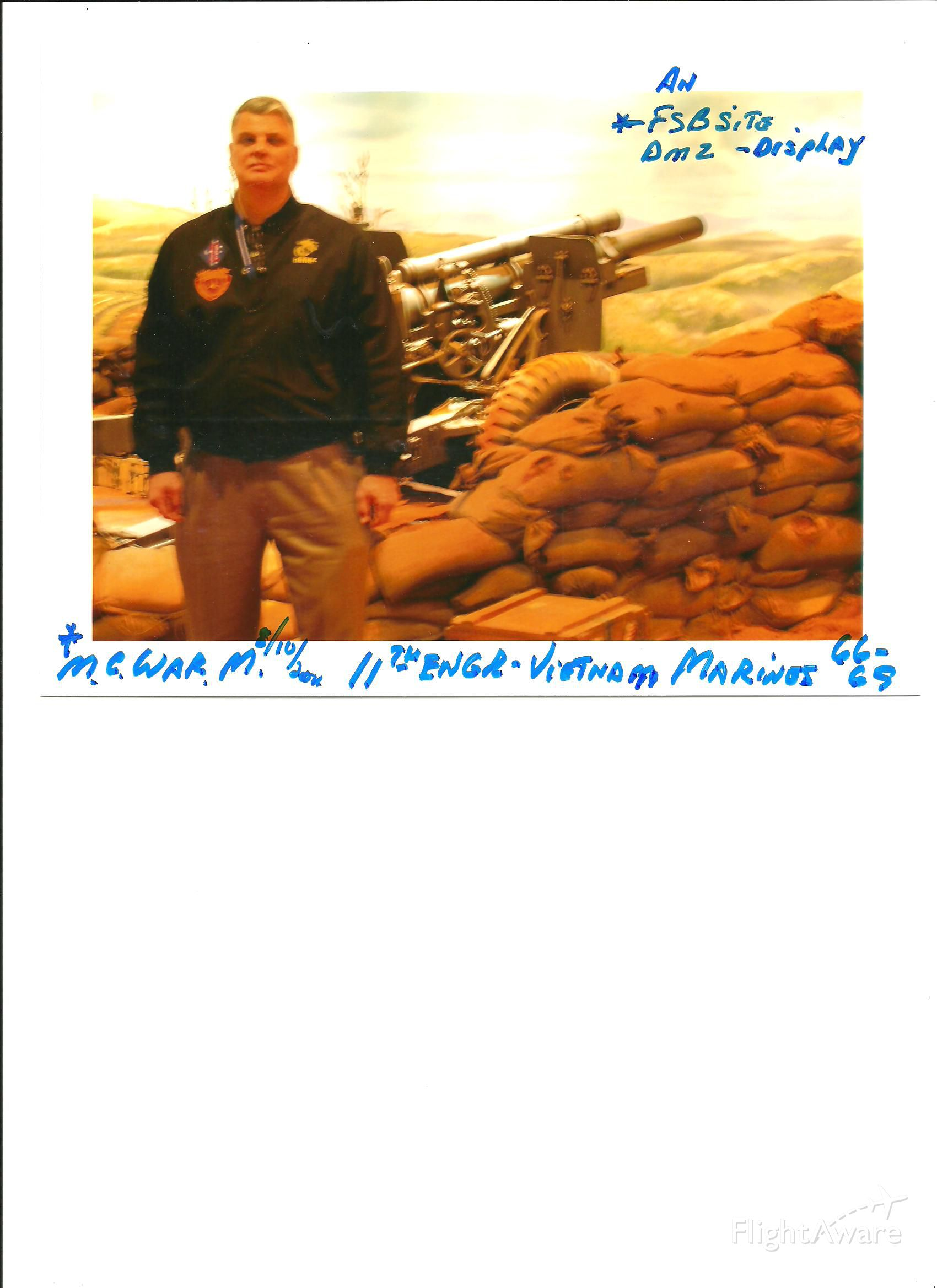 — — - Visiting the Marne Corps Museum !