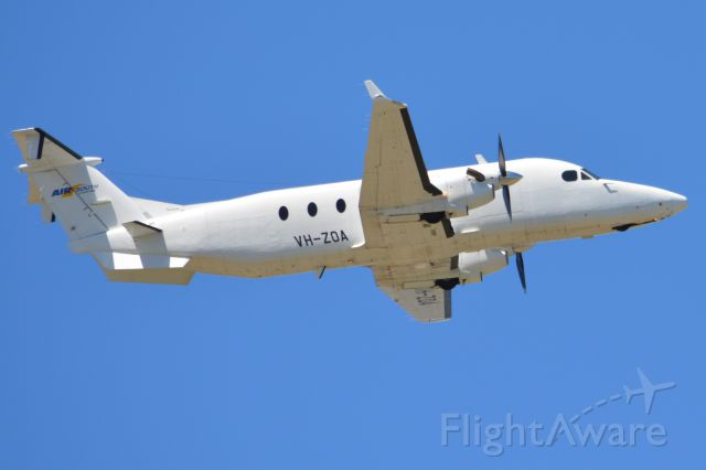 Beechcraft 1900 (VH-ZOA) - Get off airborne off runway 23 and heading off to another regional destination. Thursday 6th March 2014.
