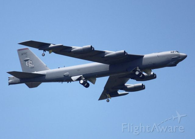 Boeing B-52 Stratofortress (60-0011) - At Barksdale Air Force Base. Front paint has faded since last photographed.