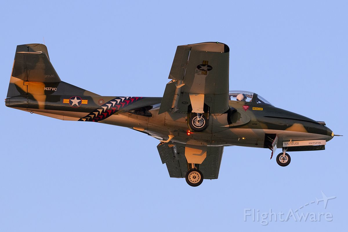 Cessna 318C (N37VC) - Performing at Addison's Kaboom Town.