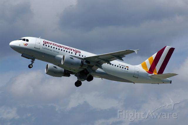 Airbus A319 (D-AKNT) - Airbus A319-112, Germanwings, Stuttgart-Echterdingen